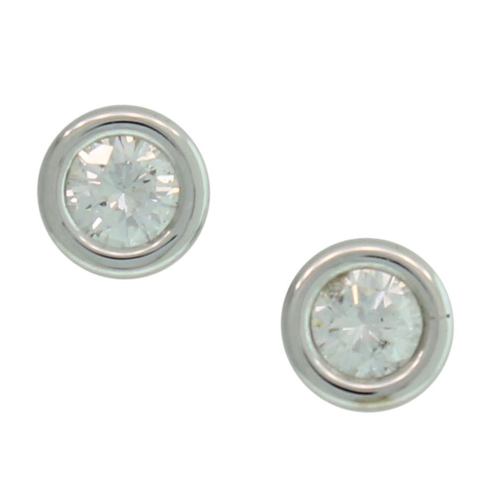 18CT WHITE GOLD 0.33CT ROUND BRILLIANT CUT DIAMOND STUDS