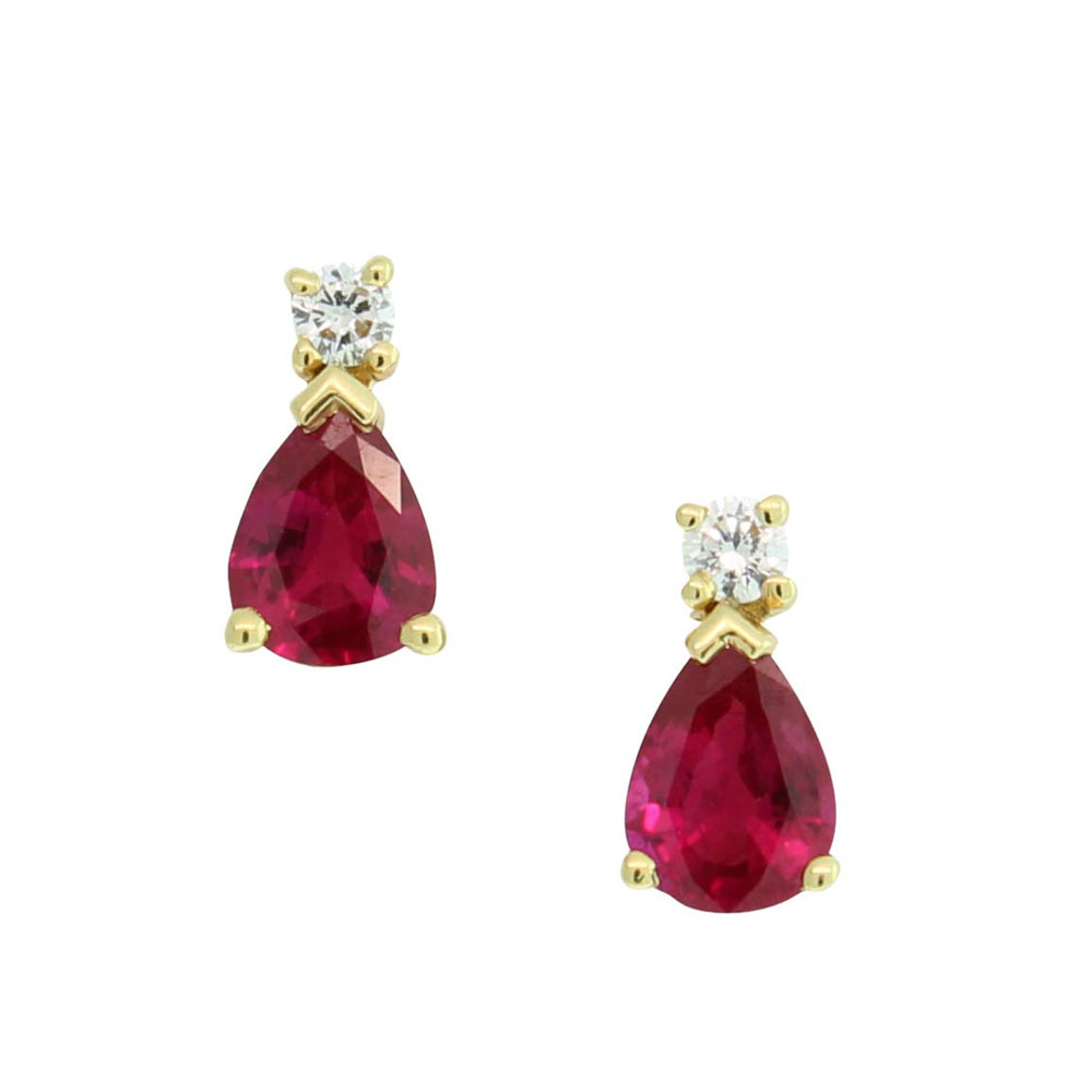 18CT YELLOW GOLD RUBY & DIAMOND