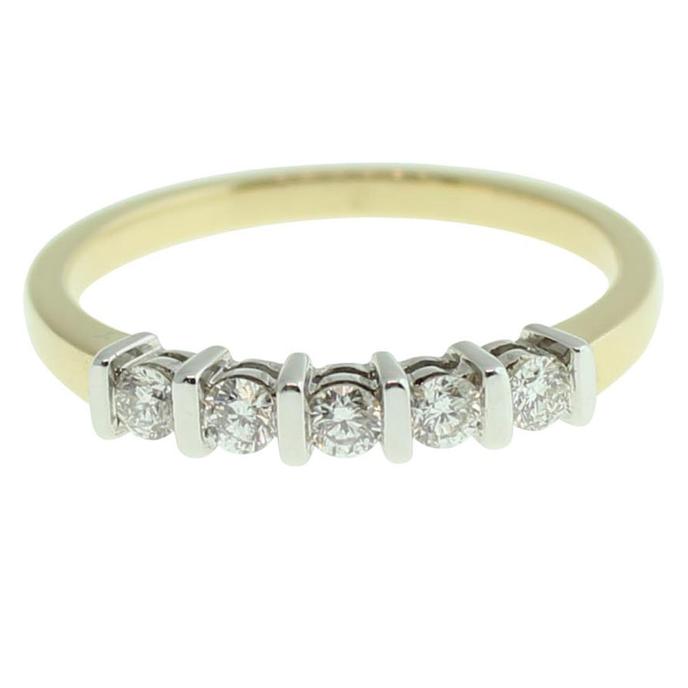 18CT YELLOW GOLD ROUND BRILLIANT CUT 0.25CT DIAMOND ENGAGEMENT RING