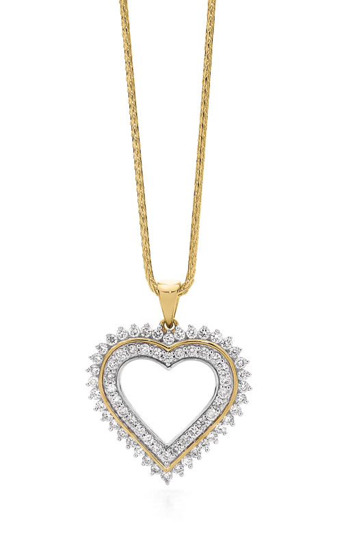 9ct Diamond Heart Pendant 1.50ct TDW