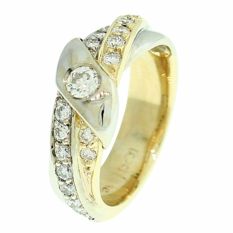18CT GOLD HANDMADE DIAMOND DRESS RING