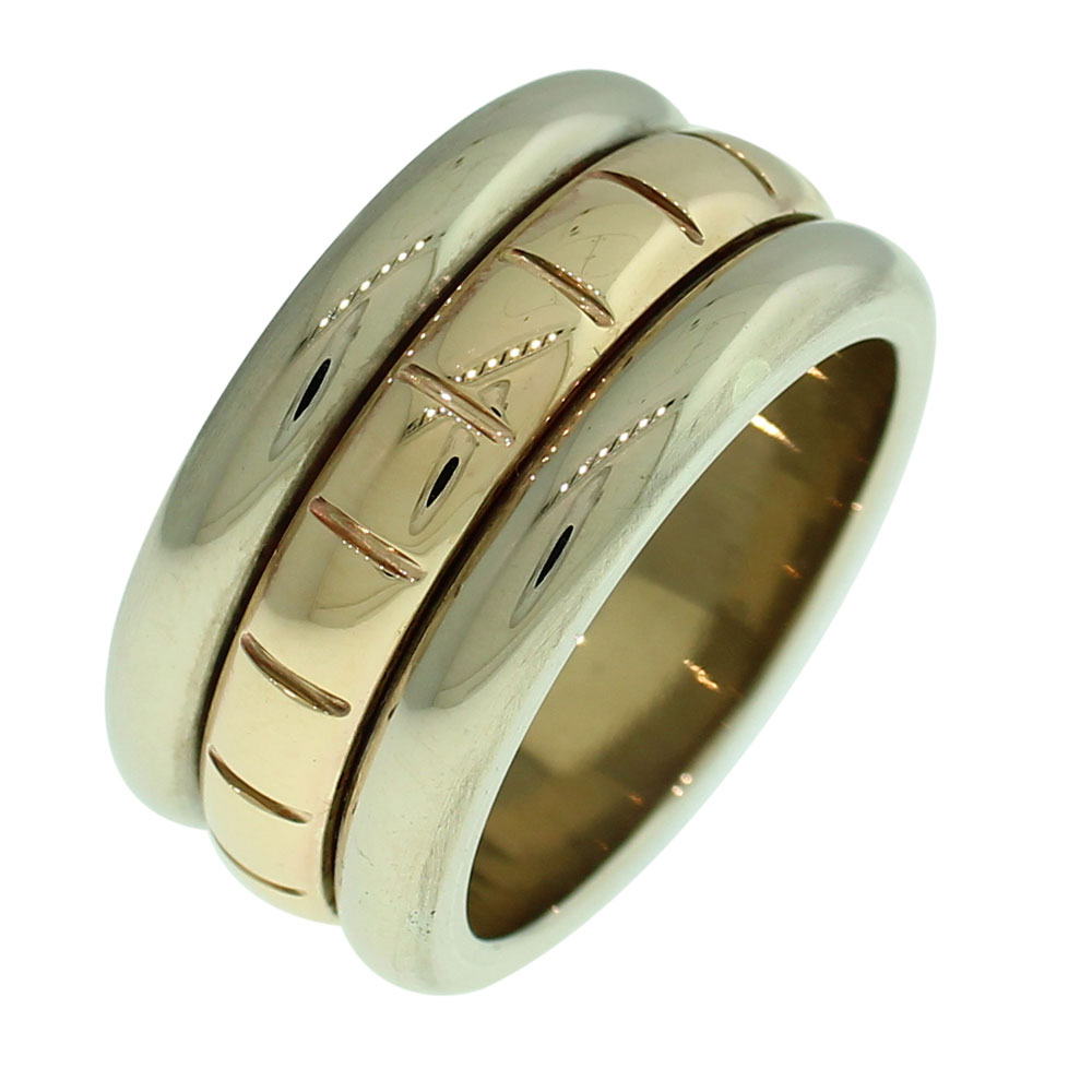 18CT GOLD HANDMADE SPINNER RING