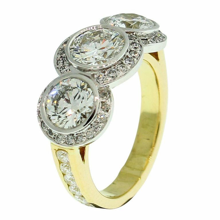18CT YELLOW GOLD HANDMADE DIAMOND RING
