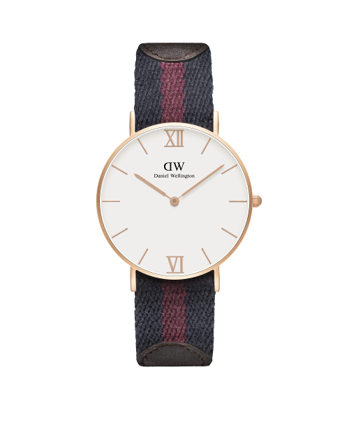 36mm Sandblasted Rose Gold Strap: London