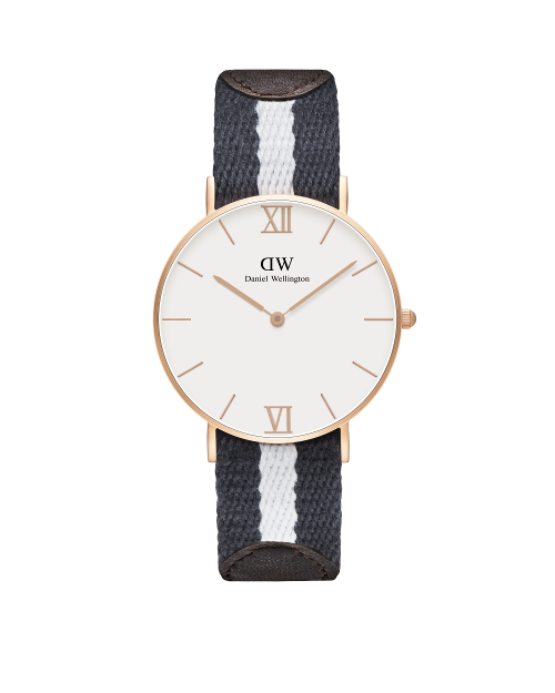 36mm Sandblasted Rose Gold Strap: Glasgow