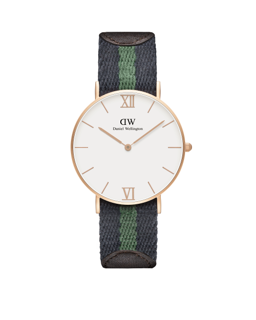 36mm Sandblasted Rose Gold Strap: Warwick