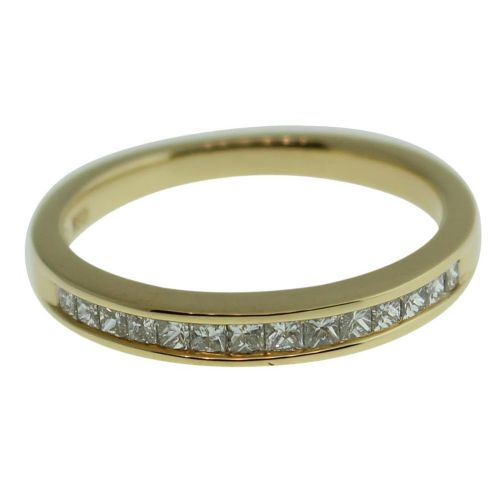 18CT YELLOW GOLD CHANNEL SET 0.32CT DIAMOND RING